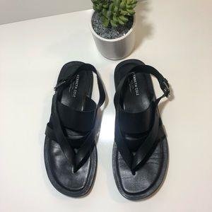Kenneth Cole Men's Black Leather Sandals